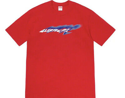 $ CDN99.07 • Buy Supreme Wind Tee Red Size Medium Ss21 Week 1 (in Hand) Authentic (brand New)