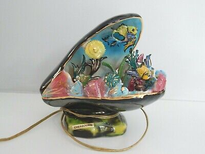 £40 • Buy French Kitsch Vallauris Shell / Fish Lamp