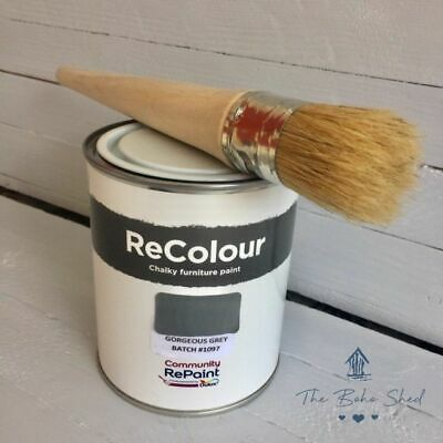 £12.95 • Buy 750ml CHALK  GORGEOUS GREY Furniture PAINT Chalky Matt Smooth Great Finish