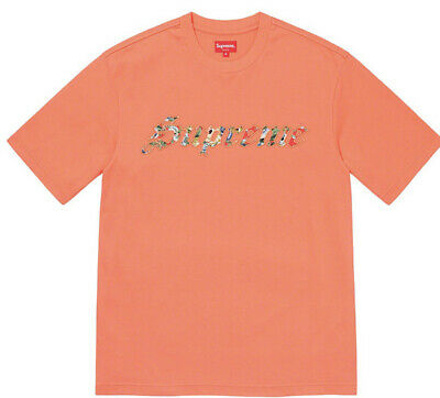 $ CDN159.76 • Buy Supreme Floral Applique S/s Top- Coral Size Medium Ss21 Week 6 (in Hand) New