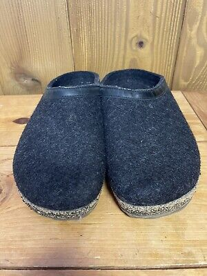 £31.82 • Buy Haflinger Charcoal Gray Wool Clog Slippers Size 46 US 12