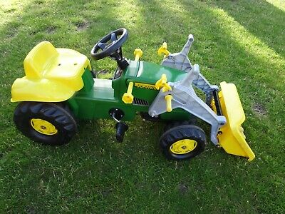 £50 • Buy Child's Pedal Ride On John Deere Tractor With Loader