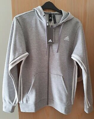£15 • Buy Adidas Mens Grey Hooded Track Top Size Small 34  -37  Chest BNWT