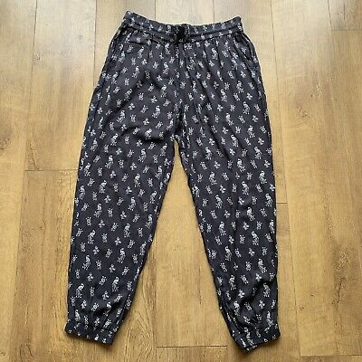 £20 • Buy Fat Face Harem Trousers Size 14 Lounge Yoga Casual Pants Peacock Pattern Pockets
