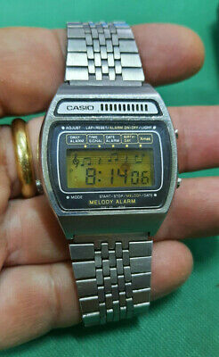 £110.20 • Buy RARE Vintage Casio Melody Alarm Watch H104 Mod 82 Full Working 1980
