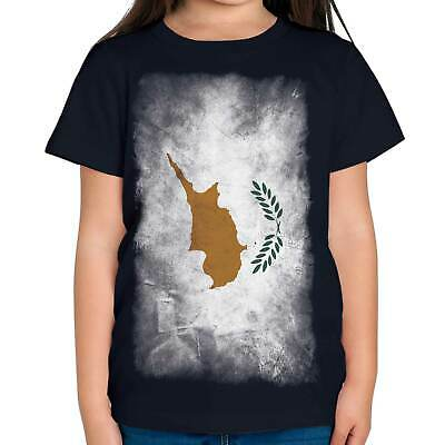 £9.95 • Buy Cyprus Faded Flag Kids T-shirt Tee Top Kypros Football Cypriot Gift Shirt