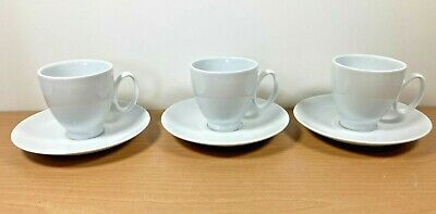 £10 • Buy Set Of 3 Guy Degrenne Porcelain Expresso Coffee Cups & Saucers