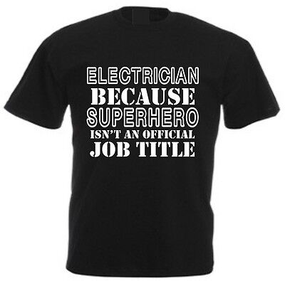 £10.99 • Buy SUPERHERO ELECTRICIAN MEN'S T-SHIRT Funny Sparky Christmas Fathers Day Gift