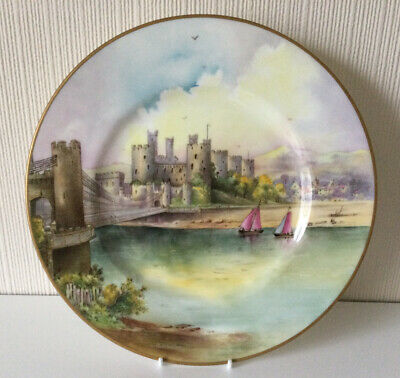 £150 • Buy Rare Vintage Minton Cabinet Plate Conwy Castle Hand Painted By J Shaw
