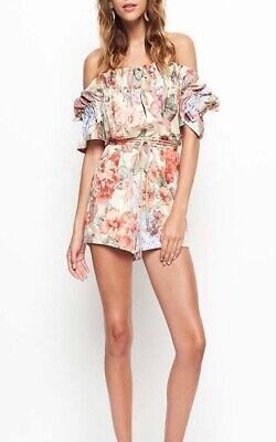 AU79 • Buy ALICE MCCALL Whole Lotta Love Floral Playsuit Romper Size 4 Or 6 XXS XS RRP $390
