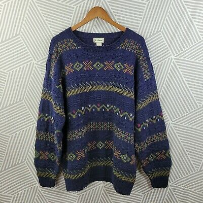 $34.99 • Buy Vintage LL Bean Mens Sweater Size Large Chunky Knit Grandpa Dad Oversize