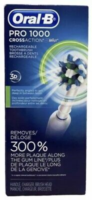 AU54.72 • Buy Oral-B Pro 1000 3D Cross Action Electric Toothbrush Powered-BRAUN Rechargeable
