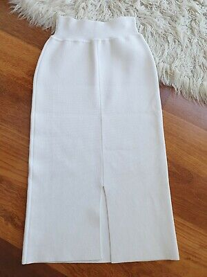 AU169.99 • Buy Excellent Condition   Scanlan Theodore White Crepe Knit Skirt - Size L