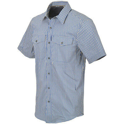 £47.90 • Buy Helikon-Tex Covert Concealed Carry Short Sleeve Shirt Mens Royal Blue Checkered