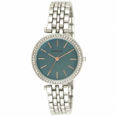£17.99 • Buy Henley Women's Fashion Dress Rose Highlighted Diamante Watch H07309.6