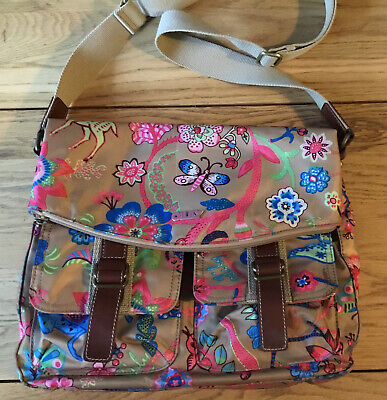 £39.95 • Buy Oilily Blue Multi Coloured Print Tote Bag Shoulder Strap Stunning Butterfly