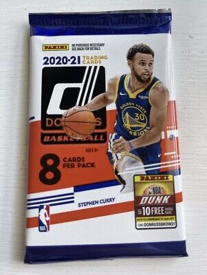 AU9.95 • Buy NBA 2020-21 Panini Donruss Trading Cards (8-Card Booster Pack) 🔥🏀🔥