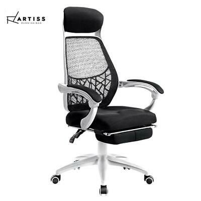 AU119 • Buy RETURNs Artiss Gaming Office Chair Computer Chair Home Work Study White