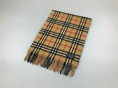 $179.99 • Buy Rare Vintage BURBERRYS NOVA CHECK Pure Cashmere Scarf Made In England Unused