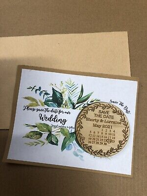 AU38.95 • Buy Wedding  Save The Date  Fridge Magnets -  X 50pc With Cards + Envelopes