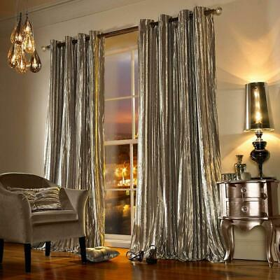 £104.95 • Buy Kylie Minogue Iliana Praline Curtains Pair Lined Eyelet Ready To Hang