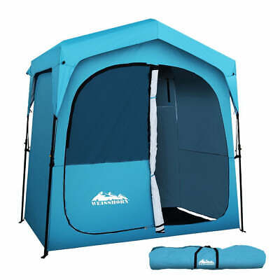AU145.95 • Buy Weisshorn Pop Up Camping Shower Tent Portable Toilet Outdoor Change Room Blue