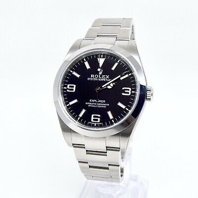 $ CDN17432.40 • Buy Rolex Explorer I 214270 39mm NEW/STICKERS Box And Papers 2019 Full Set