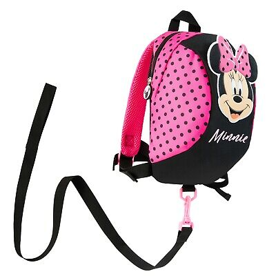 £13.49 • Buy Disney MinnieMouse Backpack With Reins, Safety Reins For Toddlers