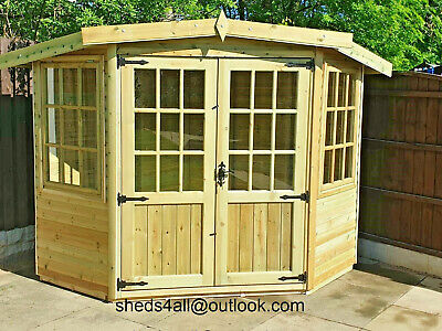 £2680 • Buy Summerhouse Shed Man Cave Corner Office Garden Wooden Play House Summer House