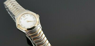 £515 • Buy Ebel Classic Wave Ladies Watch With 18ct Gold Bezel And Diamond Dial In Ebel Box
