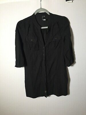AU22.55 • Buy Forever New Womens Black Tunic Blouse Top Size 10 Swim Coverup