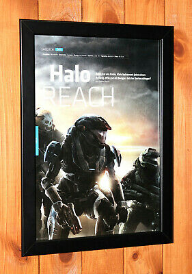 £36.57 • Buy Halo Reach Xbox 360 Xbox One Old Small Promo Poster / Ad Page Framed