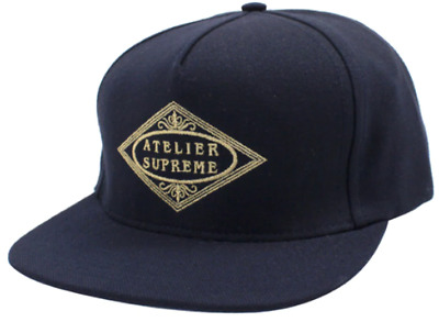 $ CDN151.05 • Buy SS15 Supreme Atelier 5 Panel Hat Navy Strapback Made In The USA Spring Summer