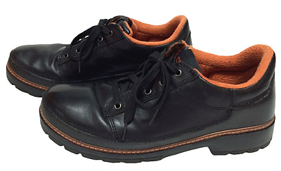 $24.99 • Buy Crocs Mens Black Leather Lightweight Fleece Lined Casual Oxfords Size US 11