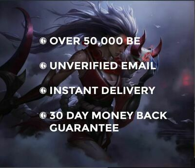 £1.99 • Buy League Of Legends LoL Account 30 Level Smurf 50K + BE Unranked EUW NA BR LAN LAS