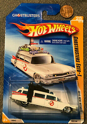 £7.38 • Buy 2010 Hot Wheels White GHOSTBUSTERS ECTO-1 New Model 25/240 Vintage CADDY Hearse