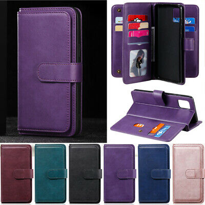 AU8.79 • Buy Fat Wallet Leather Flip Cover Case For Oppo A52 A72 A93 A53 A53S A93 A73 A15 A12