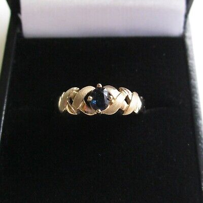 £119.95 • Buy 9ct. GOLD SAPPHIRE RING * SIZE L *