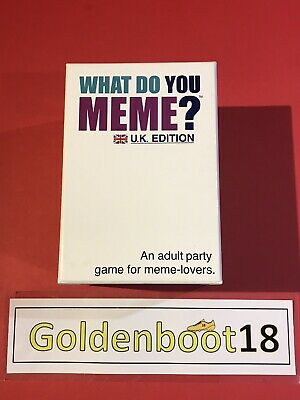 AU33.28 • Buy What Do You Meme? Uk Edition Adult Party Card Game