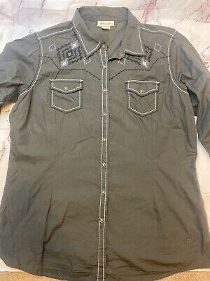 $22.77 • Buy Mens Western Ariat Embroidered Button Down Shirt XL