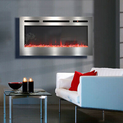 £235.95 • Buy Electric Fireplace Insert LED Heater Stove Adjustable Flame Remote Control