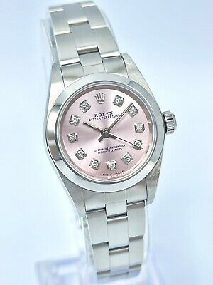 $ CDN5626.10 • Buy Ladies Rolex Oyster Perpetual 76080 24mm Pink Diamond Dial Box & Papers