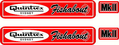 AU75 • Buy Quintrex Fishabout MkII Fishing, Boat, Sticker Decal Set