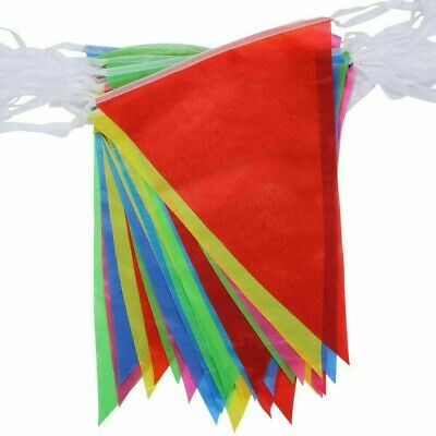 £1.65 • Buy 33 Feet 20 Flags Multi Colour Banner Bunting Party Home Garden Decoration Banner