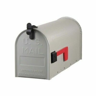 $22.15 • Buy Solar Group ST100000 Standard Galvanized Steel Gray Rural Curbside Mailbox