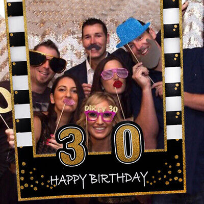 £4.09 • Buy 16/30/40/50th 21st Frame Photo Booth Props Paper Happy Birthday Party Supplies