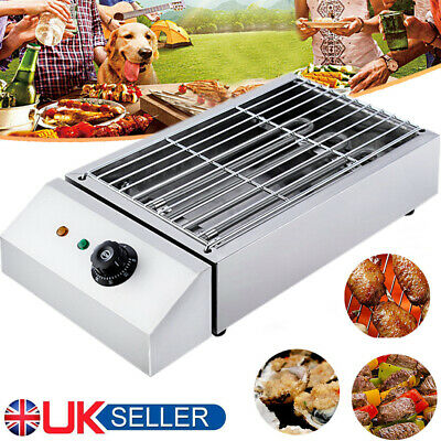 £32.98 • Buy Electric Table Top Grill BBQ Barbecue Cooking 2800W Indoor Garden Camping UK