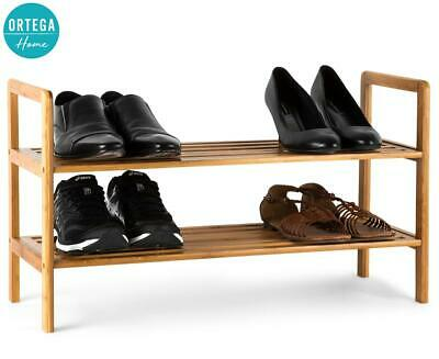 AU26.99 • Buy Bamboo Shoe Rack 2 Tier Shoes Storage Organser Shelf Cabinet Wooden Stand Home