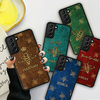£5.98 • Buy PERSONALISED BEE LEATHER Print Phone Hard Case Cover For IPhone 8 12 13 Pro Max