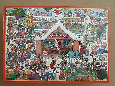 £9.50 • Buy New Sealed Christmas Jigsaw Puzzle ~ Santa's Grotto By Lee Fearnley 1000 Pieces
